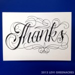 Thank You card, 2013