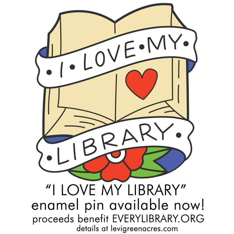 I LOVE MY LIBRARY PIN